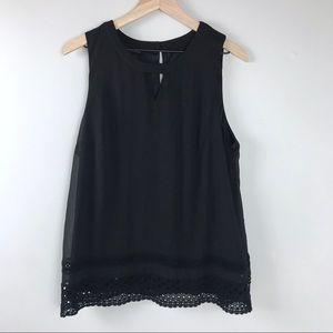 Women's Black Sleeveless blouse XL